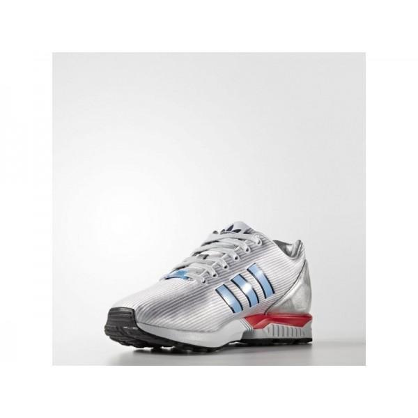 Adidas Herren ZX Flux Originals Schuhe - Silver Met./Light Blue/Bright Red