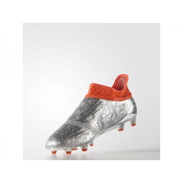 Adidas Herren X 16 Fußball Schuhe - Silver Met./Black/Solar Red