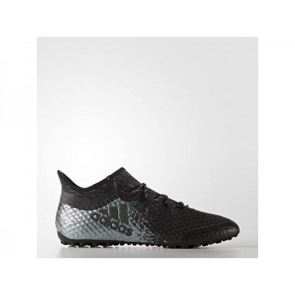 Adidas X 16 für Herren Fußball Schuhe - Black/Black/Solar Red