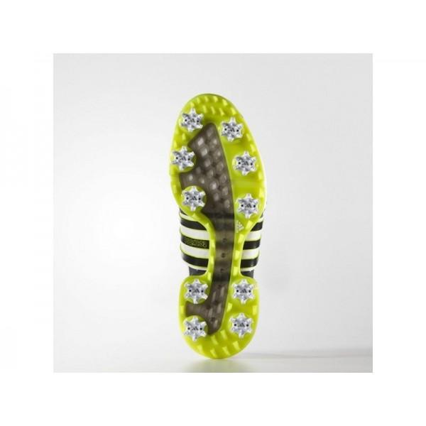 Adidas Tour 360 für Herren Golf Schuhe Verkaufen - White/Black/Solar Yellow Adidas F33263