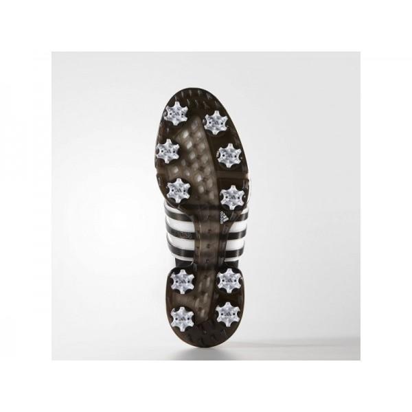 Adidas Tour 360 für Herren Golf Schuhe Verkaufen - White/Black/Dark Silver Metallics