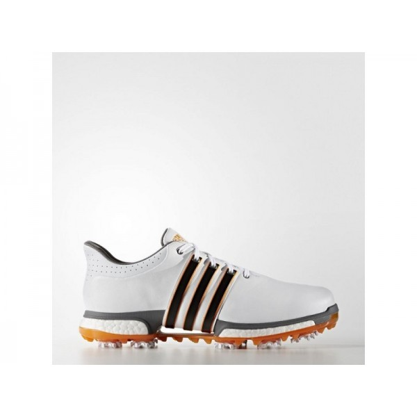 Adidas Herren Tour 360 Golf Schuhe Online - Ftwr White/Black/Unity Orange F16