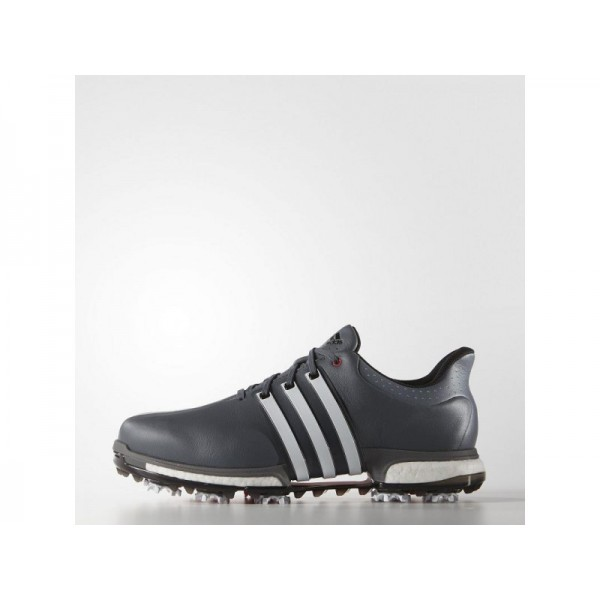 Adidas Herren Tour 360 Golf Schuhe - Onyx/White/Shock Red Adidas F33253