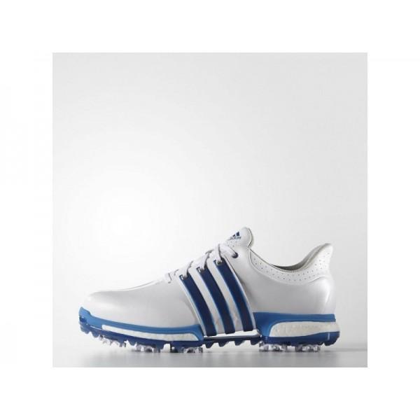 Adidas Tour 360 für Herren Golf Schuhe Verkaufen - White/Blue/Shock Blue Adidas F33252
