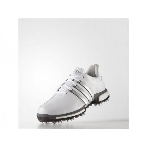 Adidas Tour 360 für Herren Golf Schuhe Verkaufen - White/Silver Metallic/Dark Silver Metallics