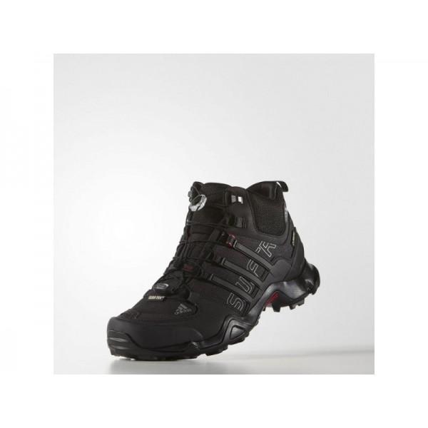 adidas Sneakers TERREX SWIFT R MID GTX Herren Schuhe - Schwarz/Vista Grau/Power Red