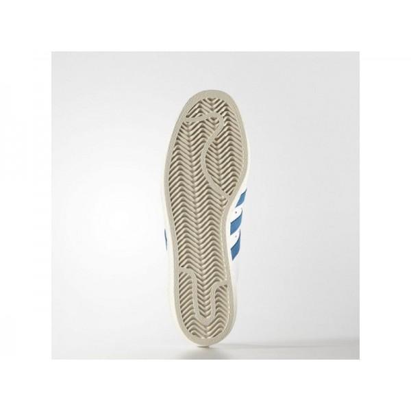 Adidas Herren Superstar Originals Schuhe Verkaufen - White/Dark Royal/Chalk White