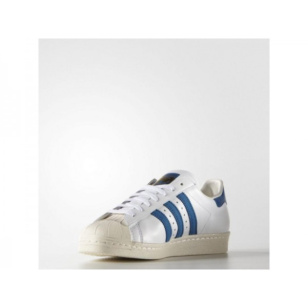 Adidas Herren Superstar Originals Schuhe Verkaufen - White/Dark Royal/Chalk White