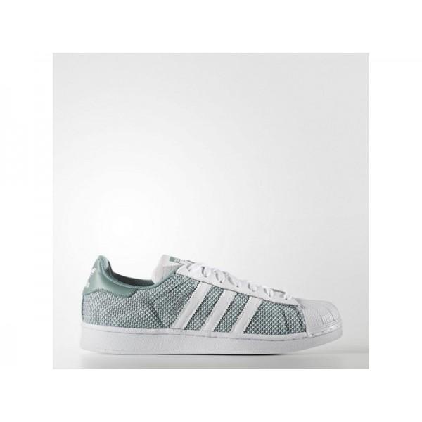 Adidas Herren Superstar Originals Schuhe Online - Ftwr White/Ftwr White/Vapour Green F16