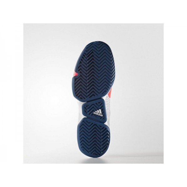 adidas Tennis ADIZERO UBERSONIC 2.0 Herren Schuhe - Blitz Red S15/Tech Stahl F16/Weiß