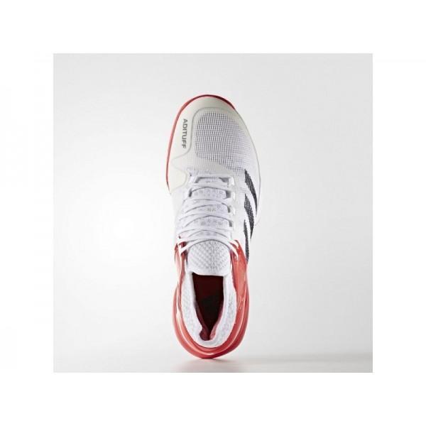 adidas Tennis ADIZERO UBERSONIC 2.0 Herren Schuhe - Weiß/Schwarz/Ray Red F16