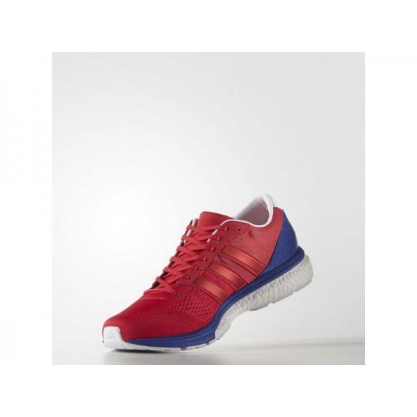 adidas Laufschuhe ADIZERO BOSTON 6 Herren Schuhe - Ray Red F16/Ray Red F16/Bold Blau