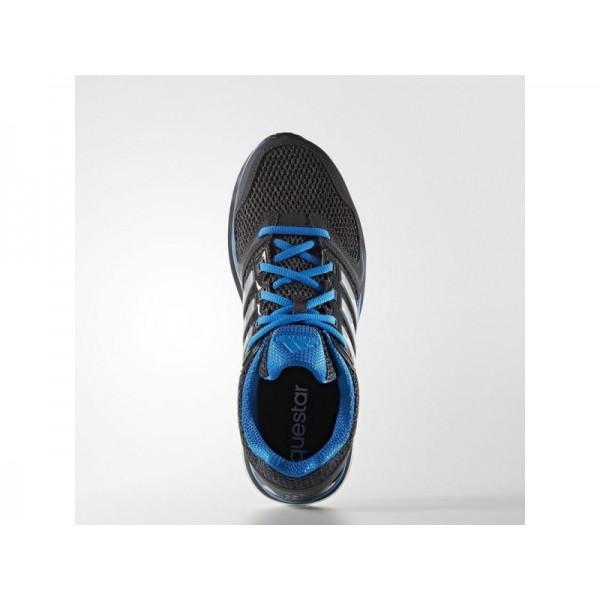adidas Laufschuhe QUESTAR BOOST Herren Schuhe - Schwarz/Silber Met./Shock Blau S16
