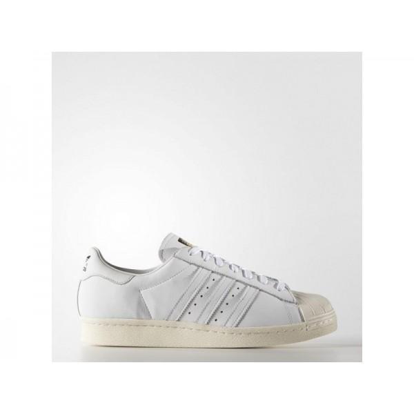 adidas Originals SUPERSTAR 80S DLX Herren Schuhe - Weiß/Creme Weiß