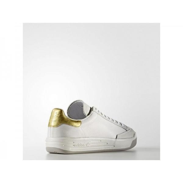 adidas Originals ROD LAVER SUPER GOLD LEAF SHOES Herren Schuhe - Altweiß/Gold Met.