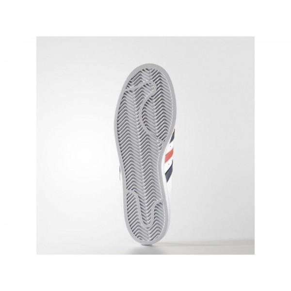 Adidas Herren Superstar Originals Schuhe Verkaufen - White/Collegiate Navy/Red