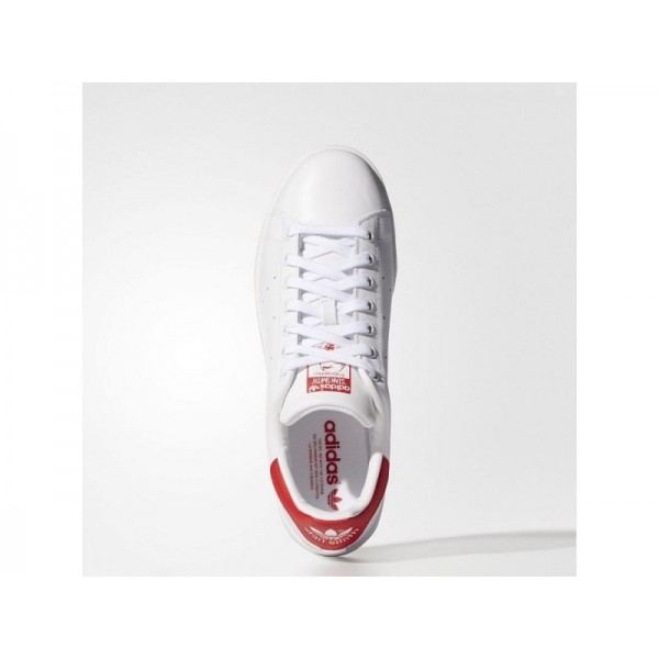 Adidas Stan Smith für Herren Originals Schuhe Verkaufen - White/White/Collegiate Red