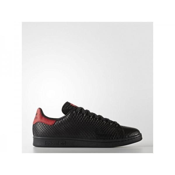 Adidas Herren Stan Smith Originals Schuhe - Black/Black/Scarlet