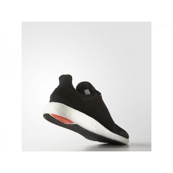 Adidas Herren Pure Boost Running Schuhe - Black/Dark Grey Heather Solid Grey/Solar Red