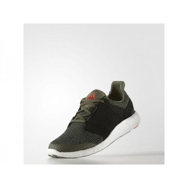 Adidas Herren Pure Boost Running Schuhe - Base Green/Black/Solar Red