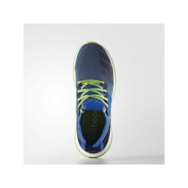 Adidas Herren Pure Boost Running Schuhe - Blue/Collegiate Navy/Semi Solar Green