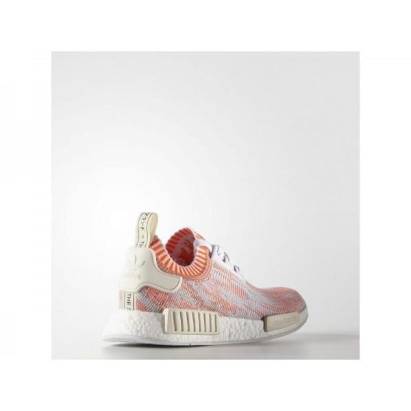 Adidas Herren NMD R1 Originals Schuhe Verkaufen - White/Solar Red/Off White Adidas BA8599