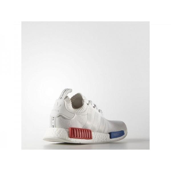 Adidas Herren NMD R1 Originals Schuhe - Vintage White/Lush Red Adidas S79482