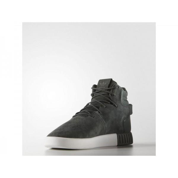 adidas Originals TUBULAR INVADER Herren Schuhe - Schatten Ivy/Schatten Ivy/Altweiß