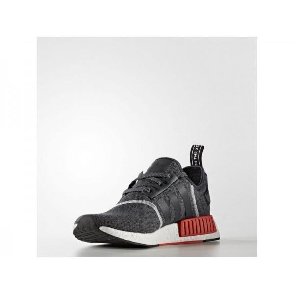 Originalsschuhe Adidas 'NMD R1' Dunkelgrau/Dunkelgrau/Semi Solar-Rot für Herren Schuhe