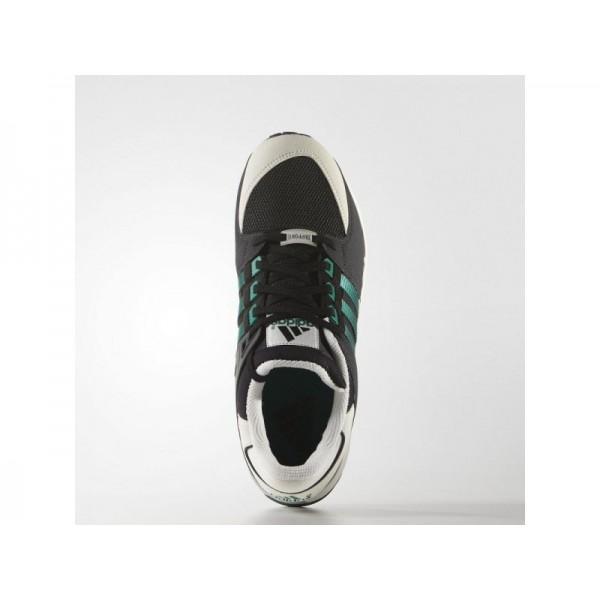 Originalsschuhe Adidas 'EQT Running Support' Schwarz/Sub Grün S13/Weiß Vapour S11 Schuhe für Herren