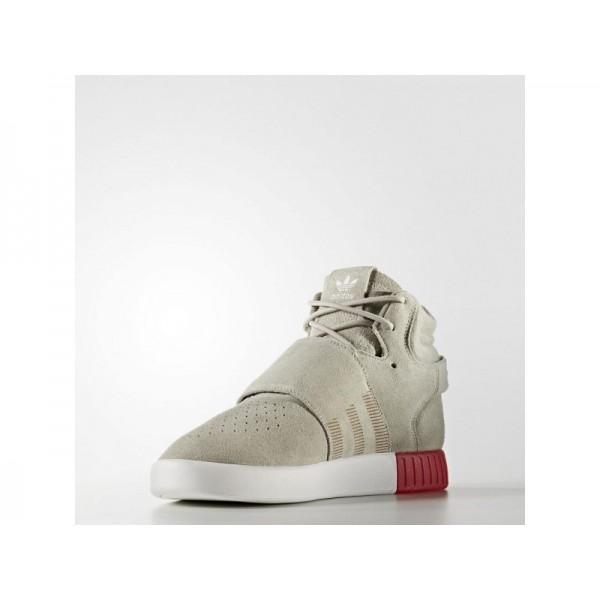 adidas Originals TUBULAR INVADER STRAP Herren Schuhe - Sesam/Sesam/Kräftiges Rot S13