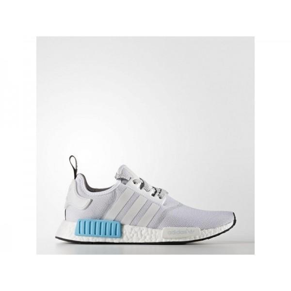 Adidas NMD R1 für Herren Originals Schuhe Online - Ftwr White/Ftwr White/Bright Cyan