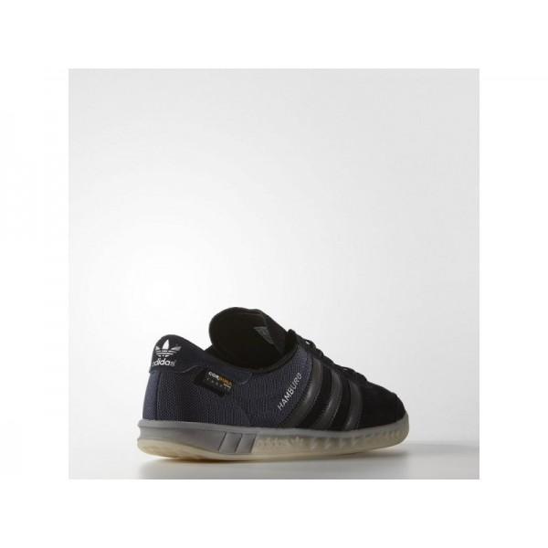 Adidas Hamburg für Herren Originals Schuhe - Black/Chalk White Adidas S75505