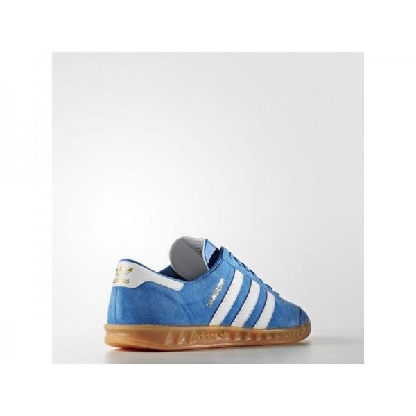 Adidas Herren Hamburg Originals Schuhe - Bluebird/Ftwr White/Gum 2 Adidas S76697