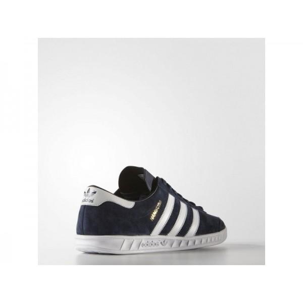 Adidas Hamburg für Herren Originals Schuhe günstig - Collegiate Navy/White/Gold Metallic