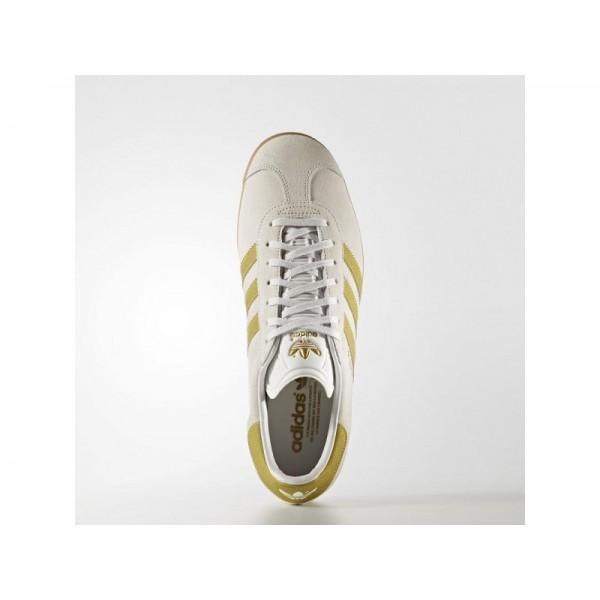 Adidas Herren Gazelle Originals Schuhe - Vintage White S15-St/Gold Met./Gum 416