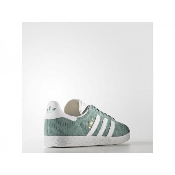 Adidas Herren Gazelle Originals Schuhe - Vapour Steel F16/White/Gold Met.