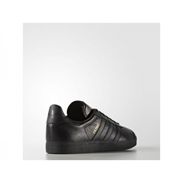 Adidas Herren Gazelle Originals Schuhe - Black/Black/Gold Met.