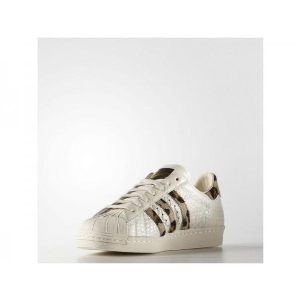 Originalsschuhe Adidas 'Superstar 80s Animal' Kreide Weiß/Gold Metallic Schuhe für Herren