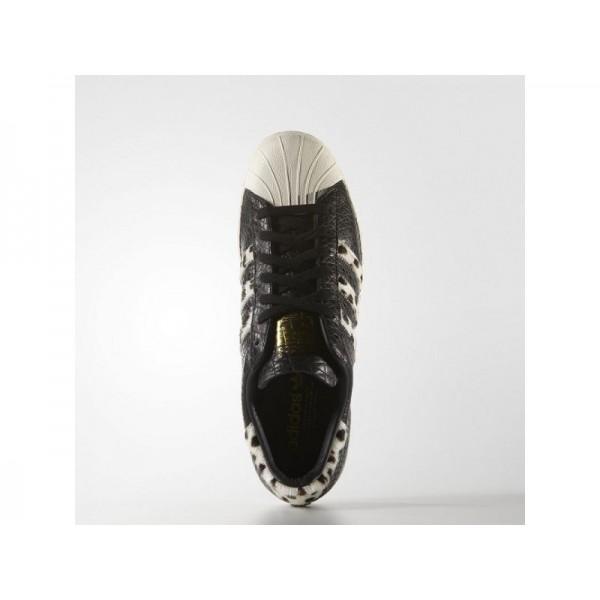Originalsschuhe Adidas 'Superstar 80s Animal' Schwarz/Kreide Weiß/Gold Metallic Schuhe für Herren