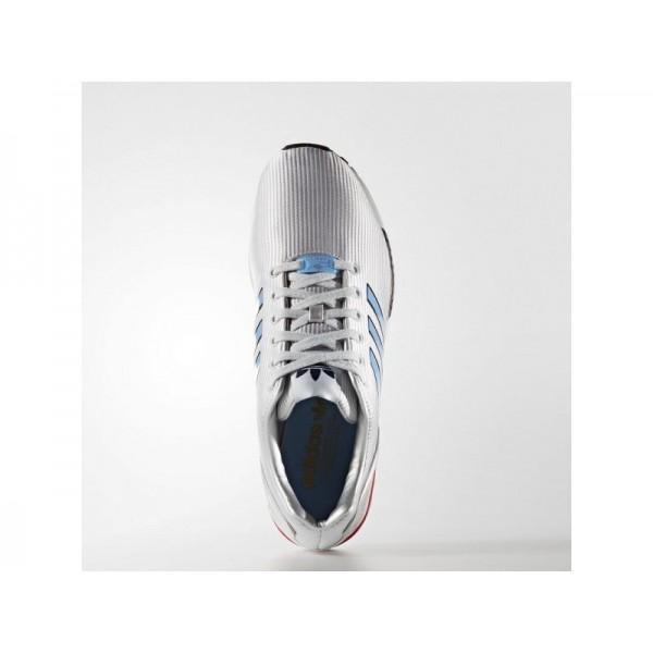 adidas Originals ZX FLUX Herren Schuhe - Silber Met./Light Blau/Bright Red
