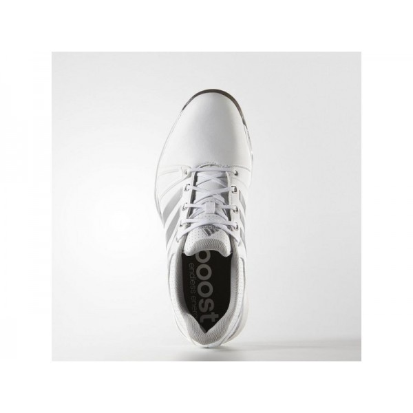 Adidas Herren Adicross Golf Schuhe Verkaufen - White/Silver Metallic/Black Adidas F33366