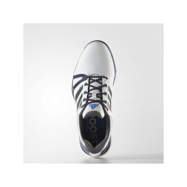 Adidas Herren Adicross Golf Schuhe Verkaufen - White/Blue/Shock Blue