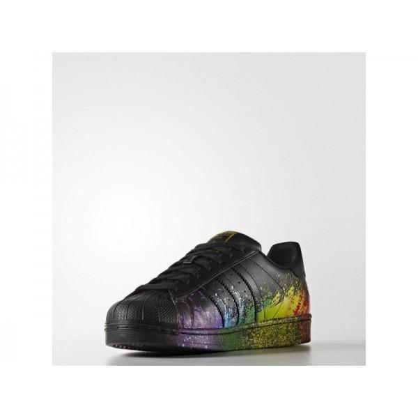 Originalsschuhe Adidas 'Superstar' Schwarz/Gold Met. für Herren Schuhe