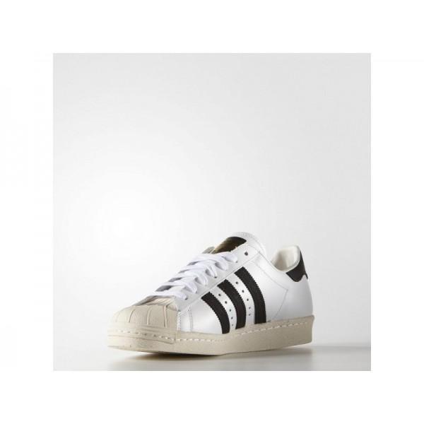 adidas Originals SUPERSTAR 80S Herren Schuhe - Weiß/Schwarz/Weiß Kreide