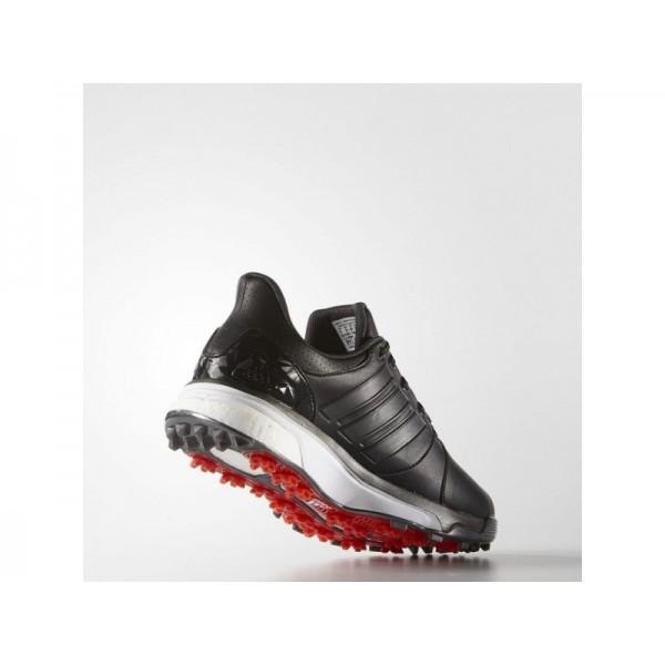 Adidas Herren Adicross Golf Schuhe - Black/Dark Silver Metallics/Red Adidas Q44664