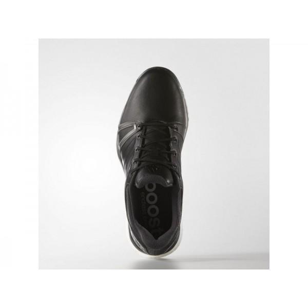 Adidas Herren Adicross Golf Schuhe - Black/Dark Silver Metallics/Red