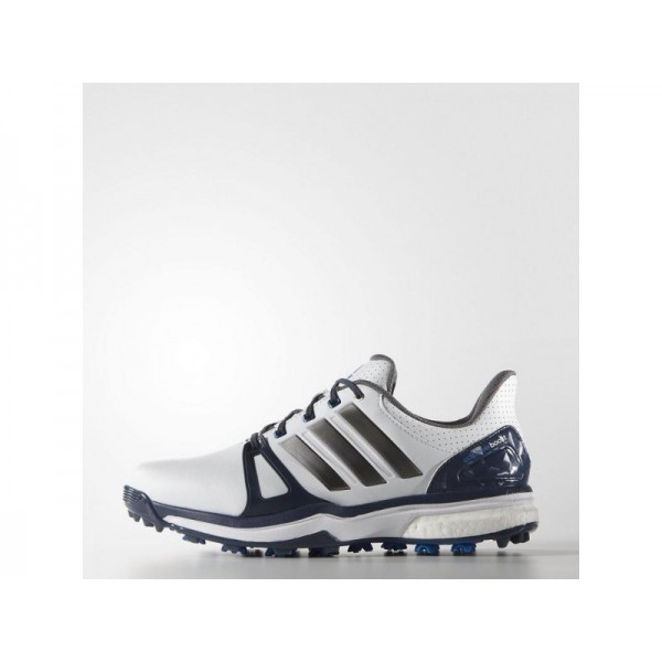 Adidas Herren Adicross Golf Schuhe Verkaufen - White/Blue/Shock Blue Adidas Q44661
