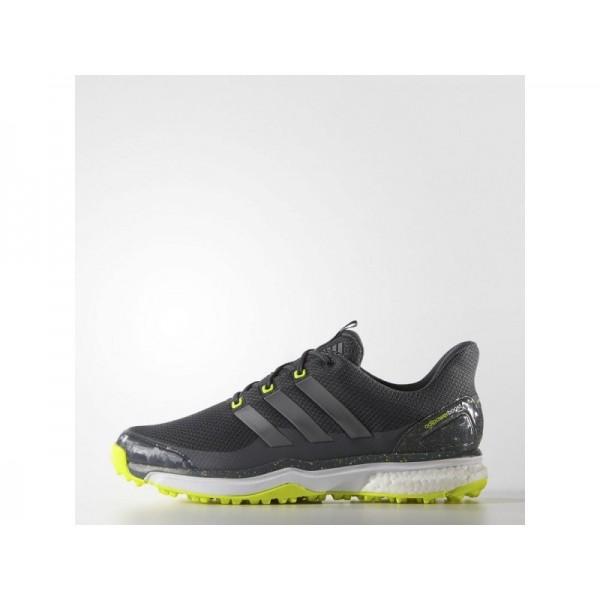 Adidas Herren Adicross Golf Schuhe - Onyx/Iron Metallic/Solar Yellow