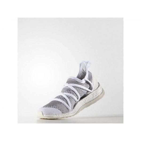Adidas Damen Pure Boost Running Schuhe Verkaufen - White/Dark Blue/White Vapour